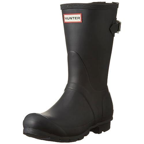 Hunter Womens Original Short Back Adjustable Rain Boots 08e2c178021