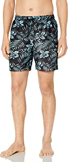 "Amazon Brand - 28 Palms Men's 6"" Inseam Tropical Hawaiian Print Swim Trunk"