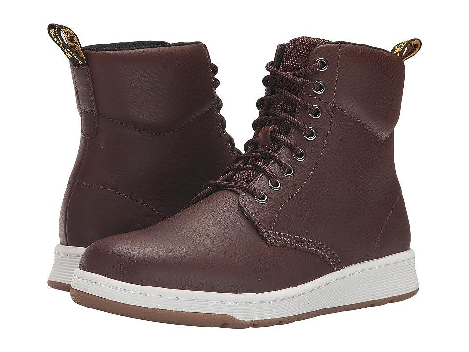 Dr. Martens Rigal 8-Eye Boot (Tan Carpathian/Mesh) Lace-up Boots