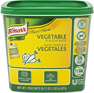 Knorr Professional Select Vegetable Stock Base Vegetarian, Gluten Free, No added MSG, 1.82 lbs, Pack of 6