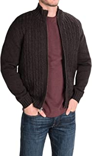 Men's Cable Knit Sweater With Sherpa Lining