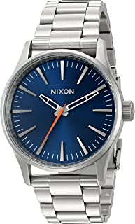 Nixon Women's 'Sentry 38 SS, Blue Sunray' Quartz Stainless Steel Watch, Color:Silver-Toned (Model: A450-1258-00)