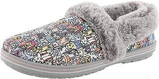 Skechers Women's Too Cozy-Dressy Dogs Slipper (6.5 M US, Gray/Multi)