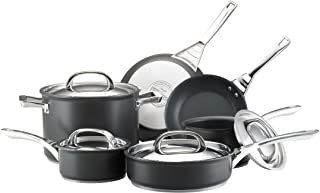 Circulon 80580 Infinite Hard Anodized Nonstick Cookware Pots and Pans Set, 10 Piece, Black