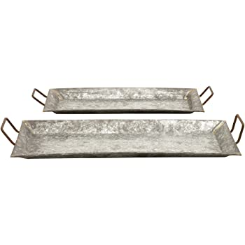 Mud Pie Set of 3 Stacked Galvanized Tin Trays 4074092