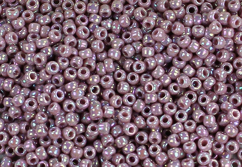 11/0 Round TOHO Japanese Glass Seed Beads #412-Opaque-Rainbow Lavender 15g