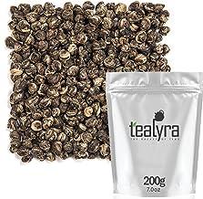Tealyra - Imperial Jasmine Dragon Pearls - Loose Leaf Green Tea - Jasmine Green Tea with Pleasant Aroma and Tonic Effect -...