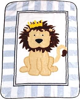 Luvable Friends Unisex Baby Plush High Pile Blanket, Lion, One Size
