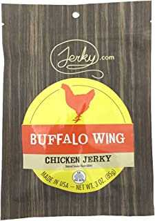 Buffalo Wing All Natural Chicken Jerky - 3 PACK - 100% Whole Muscle Chicken - No Added Preservatives, No Added Nitrates and No Added MSG - 7.5 oz. total