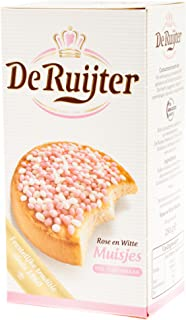 De Ruijter White-Pink Sprinkles / Rose en Witte Muisjes, 280g