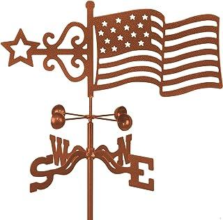 EZ Vane American Flag Weathervane Cupola Mount