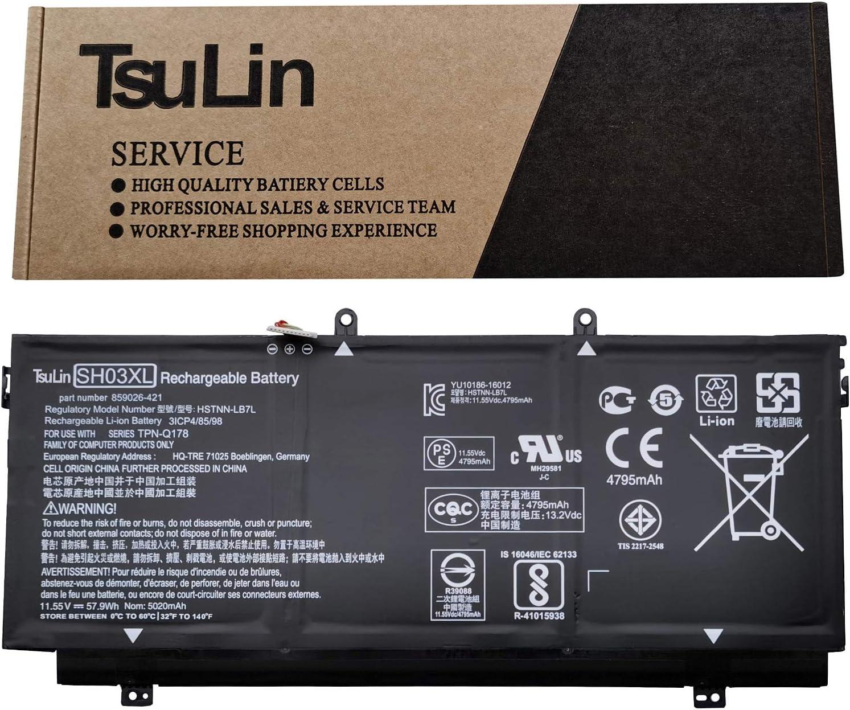 Regular cheap discount TsuLin SH03XL Laptop Battery Replacement 13- X360 for HP Spectre