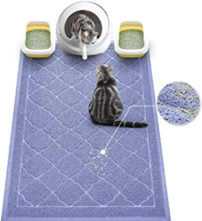 WePet Cat Litter Mat, Kitty Litter Trapping Mat, Premium Durable Soft PVC Rug, No Phthalate, Urine Waterproof, Easy Clean, Washable, Scatter Control, Litter Box Tray Carpet for Hardwood