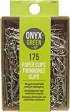 Onyx & Green Paper Clips, 28mm, Eco Friendly - 175 pack (4000)