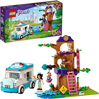 LEGO Friends Vet Clinic Ambulance 41445 Building Kit; Collectible Toy with Ambulance, Rabbit and...