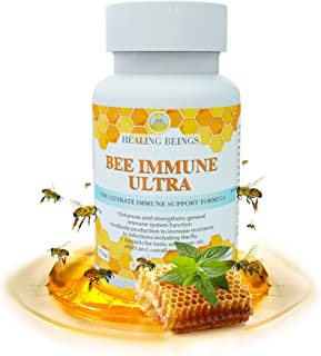 """Healing Beings """"Bee Immune Ultra"""" - This Doctor Formulated next generation Bee Immune is safe and natural support to increase overall immune system wellness."""