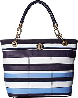 Tommy Hilfiger Signature Canvas Top Zip Tote