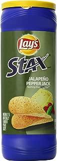 Lay's Stax Potato Crisps, Jalapeno Pepper Jack, 60.5 Ounce (Pack of 11)