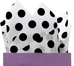 "CleverDelights Black Polka Dot Premium Tissue Paper - 100 Sheets - 20"" x 30"" - Gift Paper"