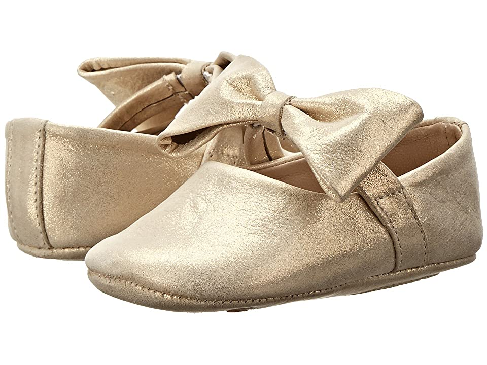 Elephantito Baby Ballerina w/ Bow (Infant/Toddler) (Metallic Gold) Girls Shoes