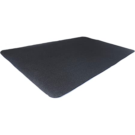 Diversitech Outdoor Gas Grill BBQ Floor Mat - Absorbent, Place Under Grill - Protects Decks and Patios 48 x 30 Inches Black