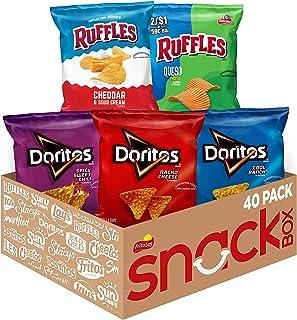 Ruffles FritoLay Variety Packs Flavors 1oz Bags, Ruffles & Doritos Bold Mix, 40 Count