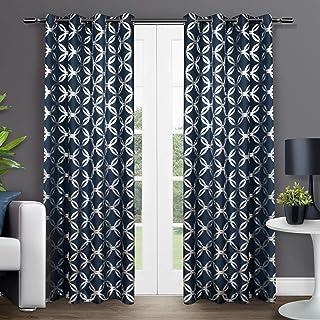 Exclusive Home Curtains Modo Grommet Top Panel Pair, Indigo, 54x84, 2 Piece