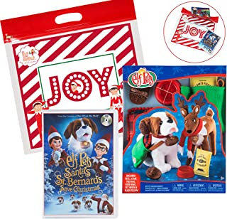 The Elf on the Shelf Elf 2018 Pets Christmas Set, with Elf Pets Good Tidings Accessory Set and Santas St. Bernards Save Christmas DVD Movie