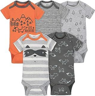 5c8ed486e1 Gerber Boys 5-pack Onesies Brand Short Sleeve Bodysuits