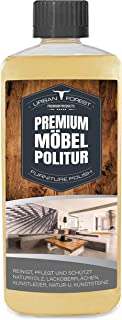 Möbel-Pflege & Holz-Schutz für innen und aussen | Möbel-Öl & Holzlasur | Holz-Pflege & Holz-Reiniger für Holz-Möbel | Holz polieren wie ein Profi mit PREMIUM MÖBEL-POLITUR von URBAN FOREST 500ml