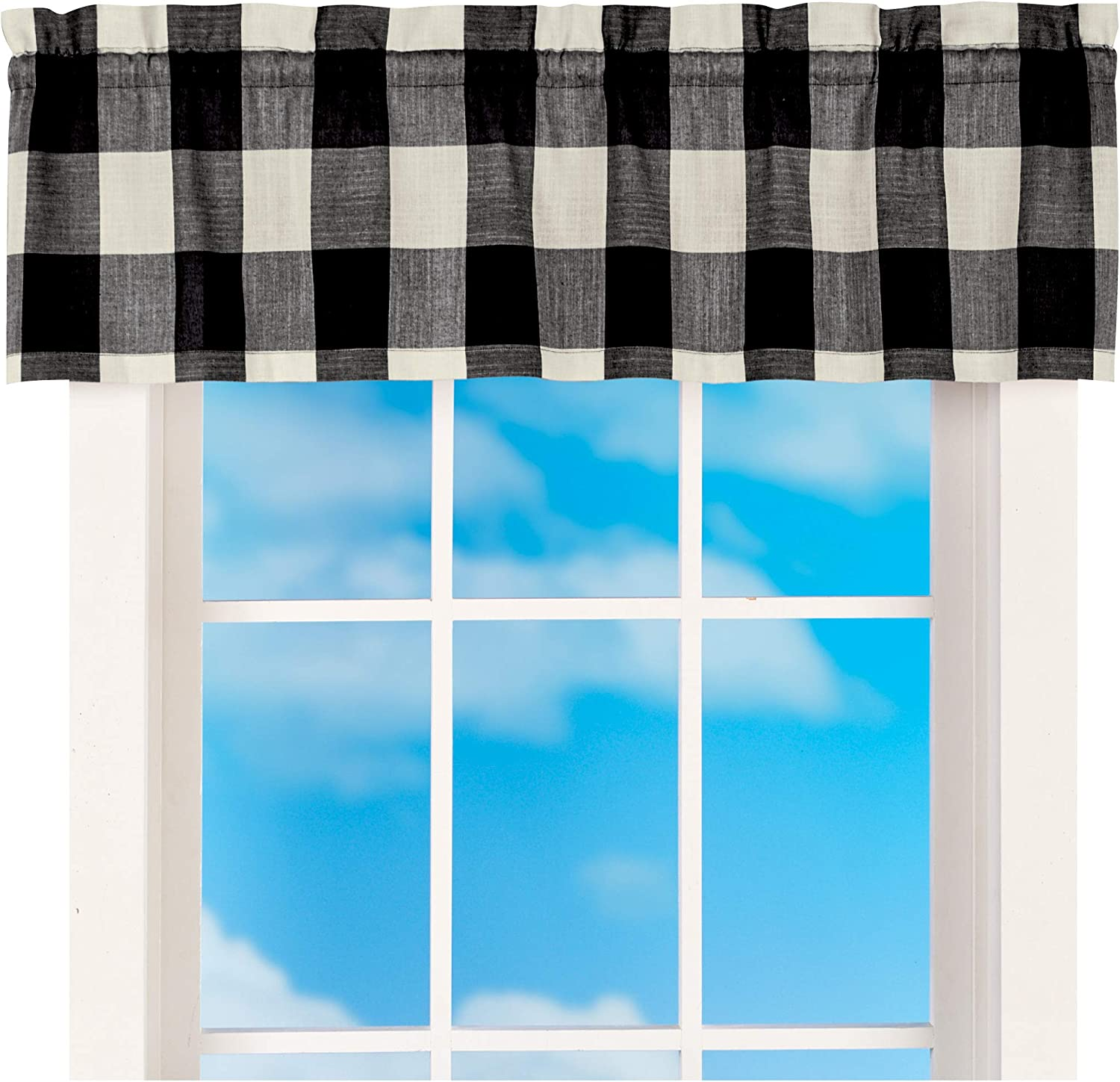 52 wide RED  BLACK or GRAY  Buffalo Plaid Valance or Panel Cotton Print 52 X  14 18 24/' 32 Lined or Unlined