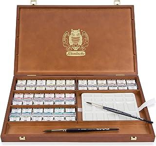 مجموعه جعبه های چوبی Schmincke Horadam Aquarell Deluxe- 48 قابلمه بزرگ