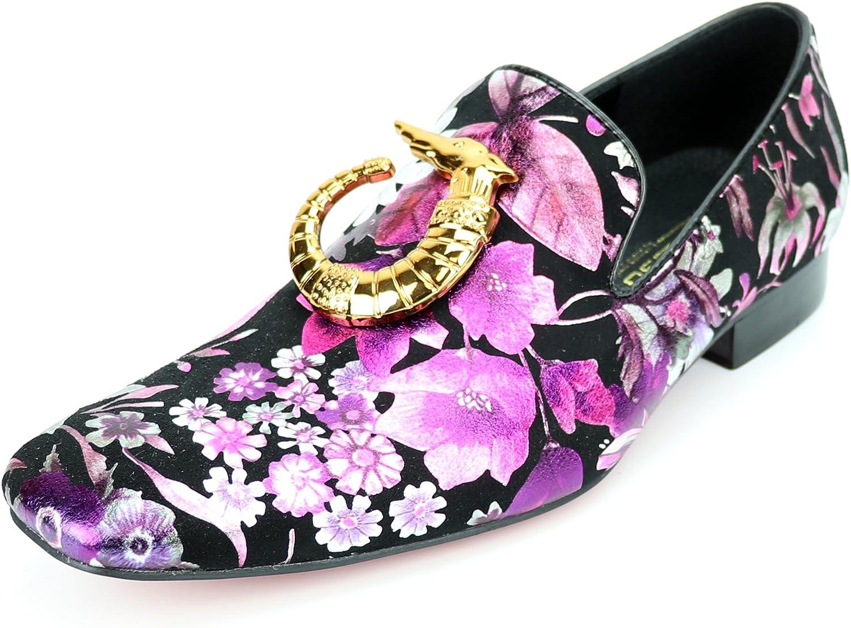 Fiesso by Aurelio Garcia FI-7259 Black Multi Color Slip on Loafer - European Shoe Designs