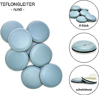 Store HD Protector de muebles redondo para sillas y sillones, Protege suelo y alfombra - Protector de Suelo Autoadhesivo, 8 uds protectores de patas, sillas, mesas, suelo