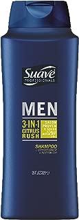 Suave Men 3-in-1 Shampoo Conditioner Body Wash, Citrus Rush, 28 oz