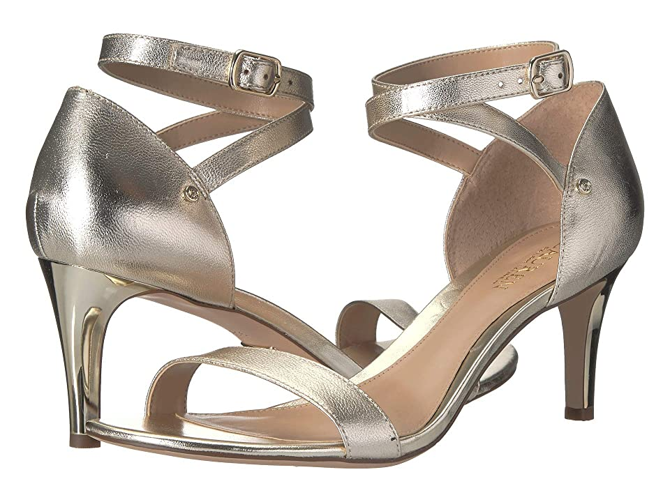 LAUREN Ralph Lauren Glinda (Platino Metallic Leather) Women