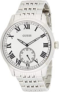 Guess Mens Quartz Watch, Analog Display and Stainless Steel Strap W1078G1