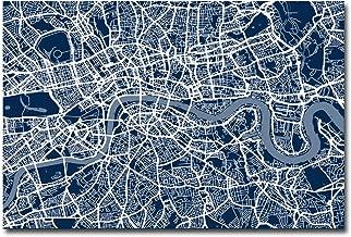 London Street Map III by Michael Tompsett, 16x24-Inch Canvas Wall Art