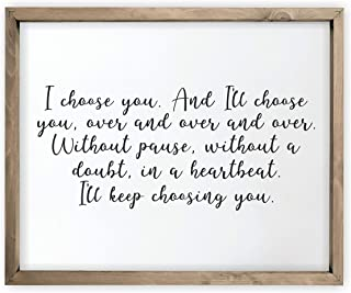 i ll choose you sign