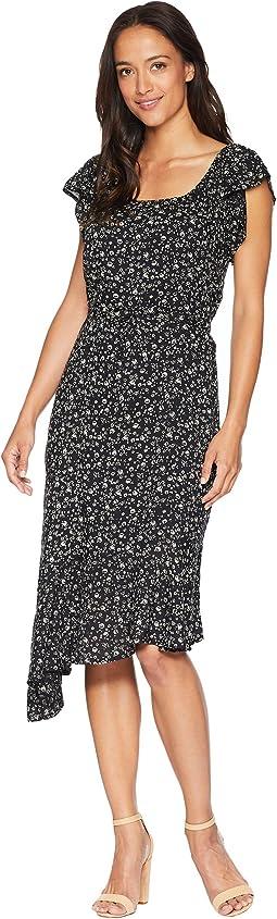 Ditsy Asymmetrical Dress
