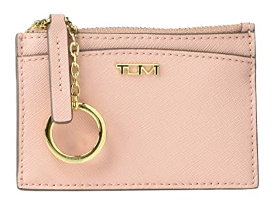Tumi Belden Zip Card Case (Blush) Handbags