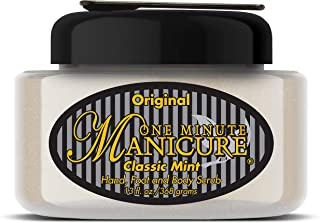 One Minute Manicure – Moisturizing Salt Scrub – 13 oz – Professionally Formulated To Exfoliate, Recondition & Moisturize Skin – Enhanced With Botanical Oils & Natural Sea Salts (Classic Mint)