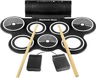 Pyle PTEDRL14 Negro acoustic drum - Instrumento de percusión (Negro, Eléctrico)