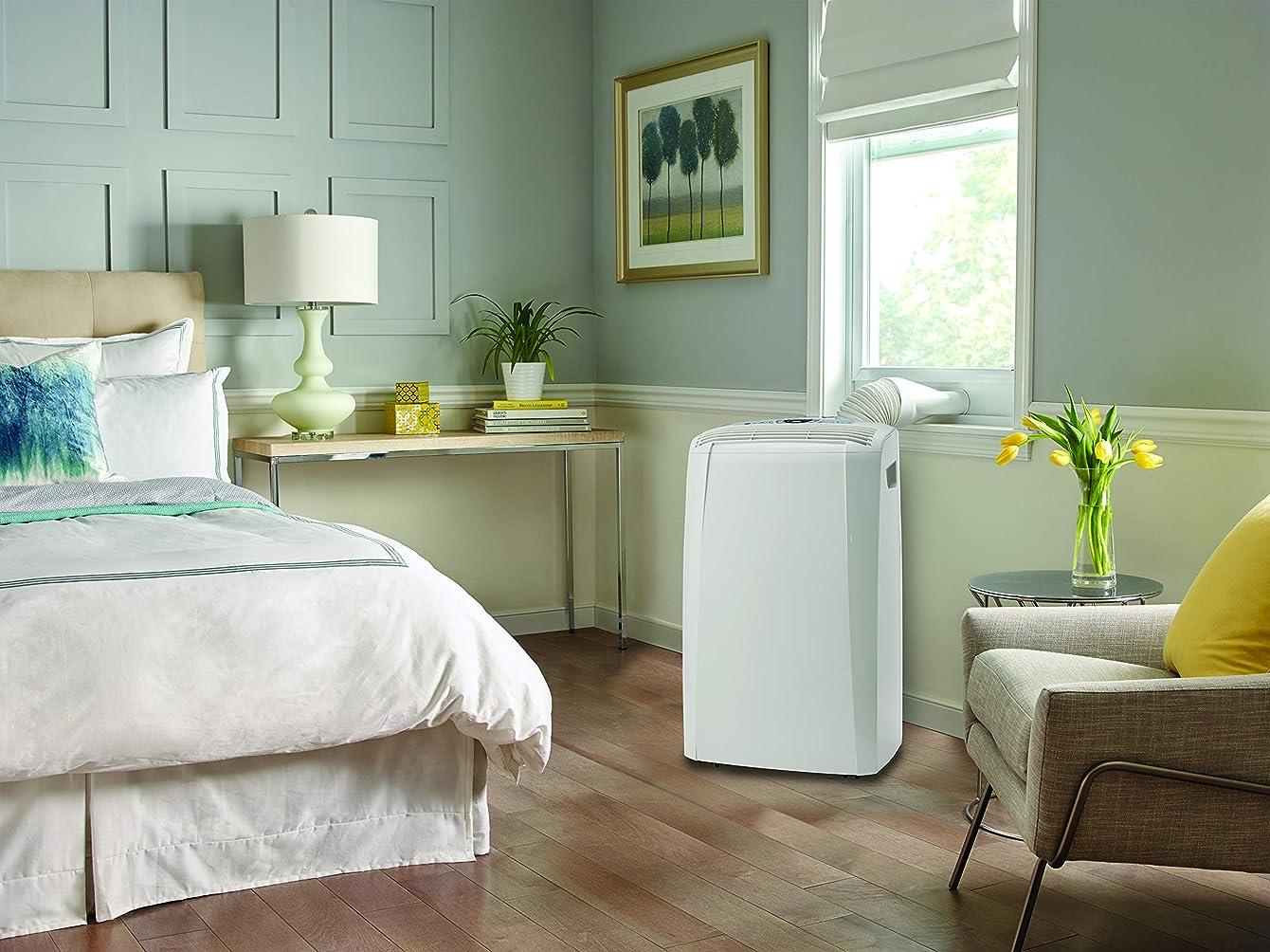 DeLonghi Portable 12,000 BTU Air Conditioner, White (Refurbished)
