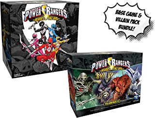 Power Rangers: Heroes of The Grid Board Game and Power Rangers: Heroes of The Grid Villian Pack #1! Bundle!