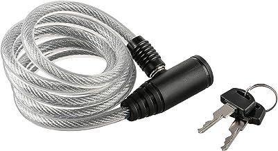Ultrasport spiraalvormig fietsslot met 2 sleutels / spiraalvormig kabelslot voor fietsen, 150 cm lang, perfect om o.a. hel...