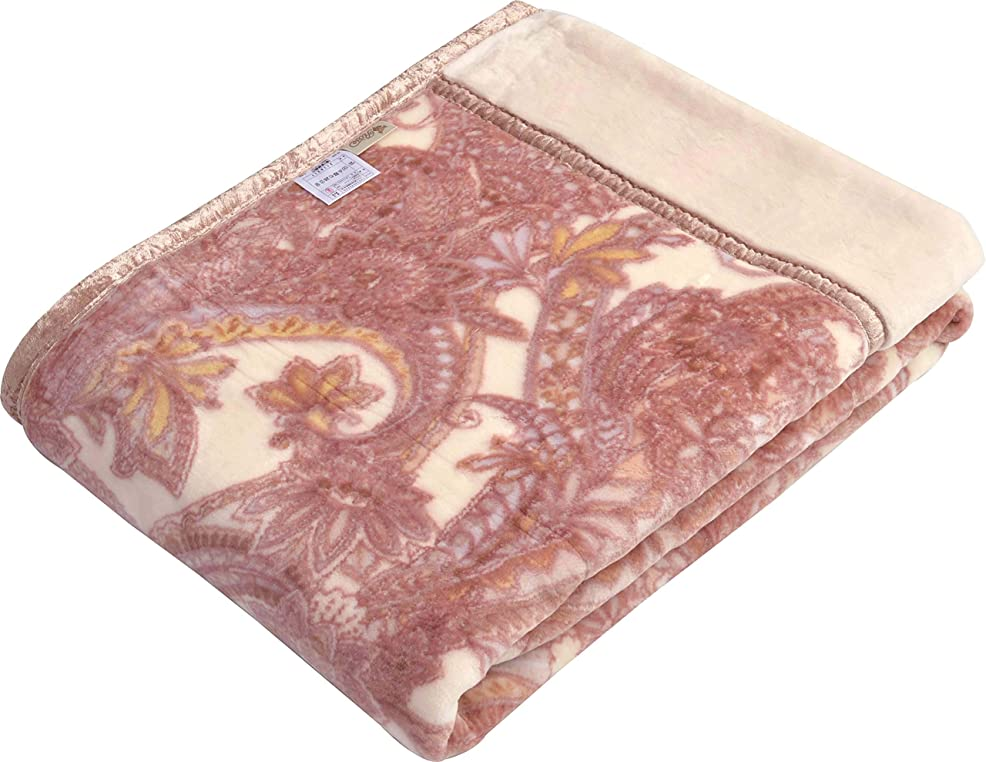 艦隊放牧するリスト西川(Nishikawa) 毛布 ピンク シングル 140×200㎝ 日本製 洗える 2枚合わせ毛布 襟付き アクリル ミニファー 2K2488