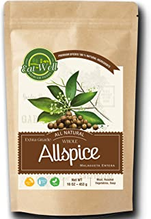 Whole Allspice Berries | 16oz (1 lb)- 453 g - Reseable Bag, Bulk |