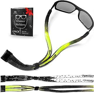 Eyeglasses String Holder Strap Chain - 2 Long Eyeglass Chains for Women Men - Eye Glasses Neck Retainer - Sunglasses Eyewear Rope Lanyard - 2 Pcs