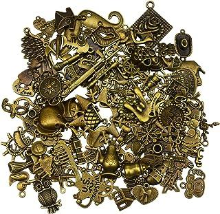 100 pièces antique bronze vintage charmes ensemble bricolage accessoires faits à la main collier pendentifs fabrication